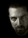 Evil face in the dark royalty free stock image