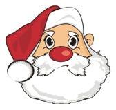 Evil face of santa Stock Image