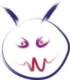 Evil face. Sketch of evil face illustration Stock Photo