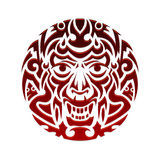 Evil face tribal tattoo ornament vector Royalty Free Stock Image