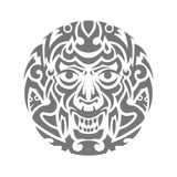 Evil face tribal tattoo ornament vector Royalty Free Stock Photos