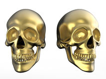 Evil fantasy golden skulls Stock Photo