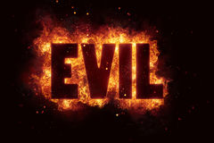 Evil Fire Satanic sign gothic style evil esoteric. Occultism Stock Photos