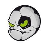 Evil football monster mascot Royalty Free Stock Photo