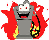 Evil gas. Are you frightened of expensive gas too Royalty Free Stock Image