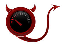 Evil gas gage Royalty Free Stock Image
