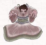 Evil geisha hand draw Stock Image