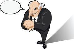 Evil genius or businessman. Evil genius or business man plotting Royalty Free Stock Photography
