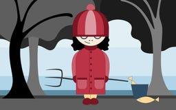Evil girl illustration Royalty Free Stock Photography