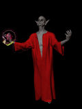 Evil gnome wizard Stock Image