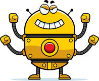 Evil Gold Robot Royalty Free Stock Photography