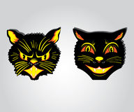 Evil and good funny cats Stock Image