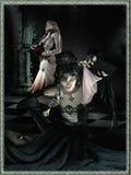 Evil and good sorceress vector illustration