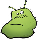 Evil Green Monster Virus Bacteria Flu Bug Royalty Free Stock Photo