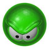 Evil green smiley Royalty Free Stock Image