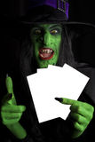 The evil green witch. Stock Photos