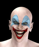 Evil Halloween Clown. An very evil looking clown for Halloween Royalty Free Stock Images