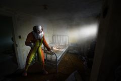 Evil Halloween Clown, Haunted House, Monster royalty free stock image