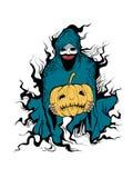 Evil of halloween. Hand draw vector cartoon illustration Royalty Free Illustration