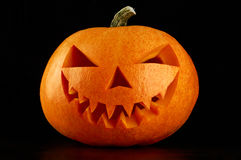 Evil Halloween pumpkin head Royalty Free Stock Photo