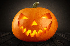 Evil Halloween pumpkin head Stock Images