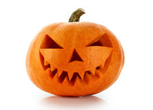 Evil Halloween pumpkin head Royalty Free Stock Photos
