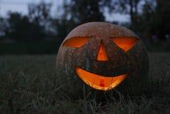 Evil Halloween pumpkin lantern Royalty Free Stock Photos