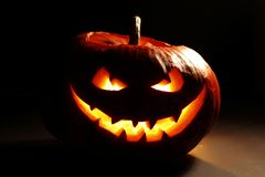 Evil halloween pumpkin Royalty Free Stock Photos