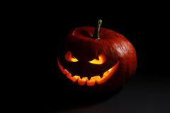 Evil halloween pumpkin Royalty Free Stock Image