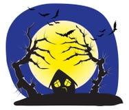 Evil Halloween trees Stock Photos