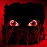 Evil haloween eyes Stock Photo