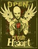 evil heart open your Στοκ φωτογραφία με δικαίωμα ελεύθερης χρήσης