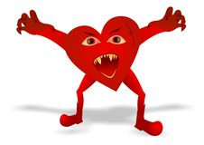 Evil heart Stock Photography