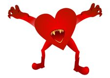 Evil heart Stock Images