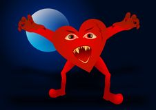 Evil heart Stock Photo