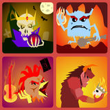 Evil Icons in flat style for web and mobile vector Royalty Free Stock Photo
