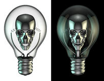 Evil idea bulb Royalty Free Stock Photo