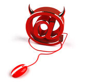 Evil internet. Bad things happen on line Royalty Free Stock Image