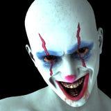 The evil laugh one clown Stock Photos