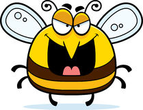 Evil Little Bee. A cartoon illustration of an evil looking bee royalty free illustration