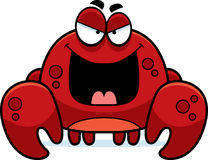 Evil Little Crab. A cartoon illustration of an evil looking crab Stock Photos