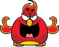 Evil Little Phoenix. A cartoon illustration of an evil looking phoenix bird Stock Photos