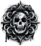 Evil Looking Skull Royalty Free Stock Photos