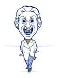 Evil mad man smile Stock Image