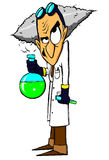 Evil mad scientist. Cartoon evil mad scientist character Stock Images