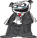 Evil Man. An abstract cartoon Man with an evil face Stock Image