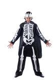 Evil man posing dressed as King of skeletons Royalty Free Stock Photo