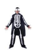Evil man posing dressed as King of skeletons Royalty Free Stock Photo