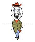 Evil man smile Royalty Free Stock Photo