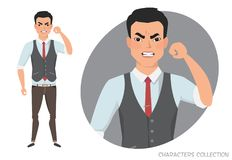 The evil man threatens with his hand. Angry asin men. Negative Emotions. Bad Days. Bad Mood Stressful men Stock Photography